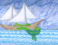 Storm with Sea Monster